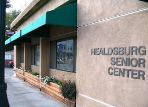 The front entrance of the Healdsburg Senior Center