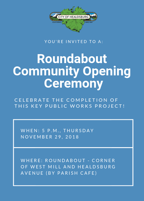 Roundabout Community Opening Ceremony Invite