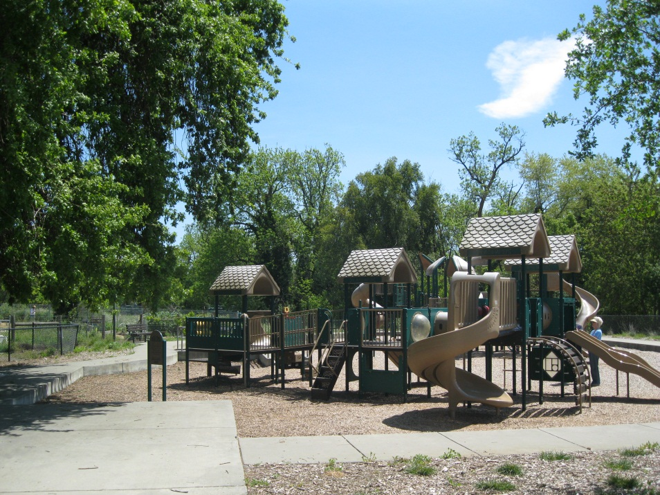 A playground area at a city park